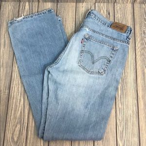 Levis 515 Bootcut Light Wash slight Distressed